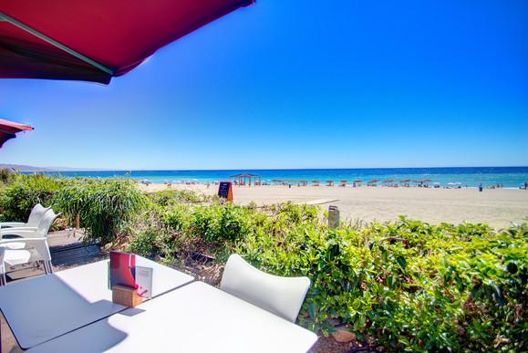 Terrasse de l'hôtel Marina Playa - Terras van het Marina Playa Hotel