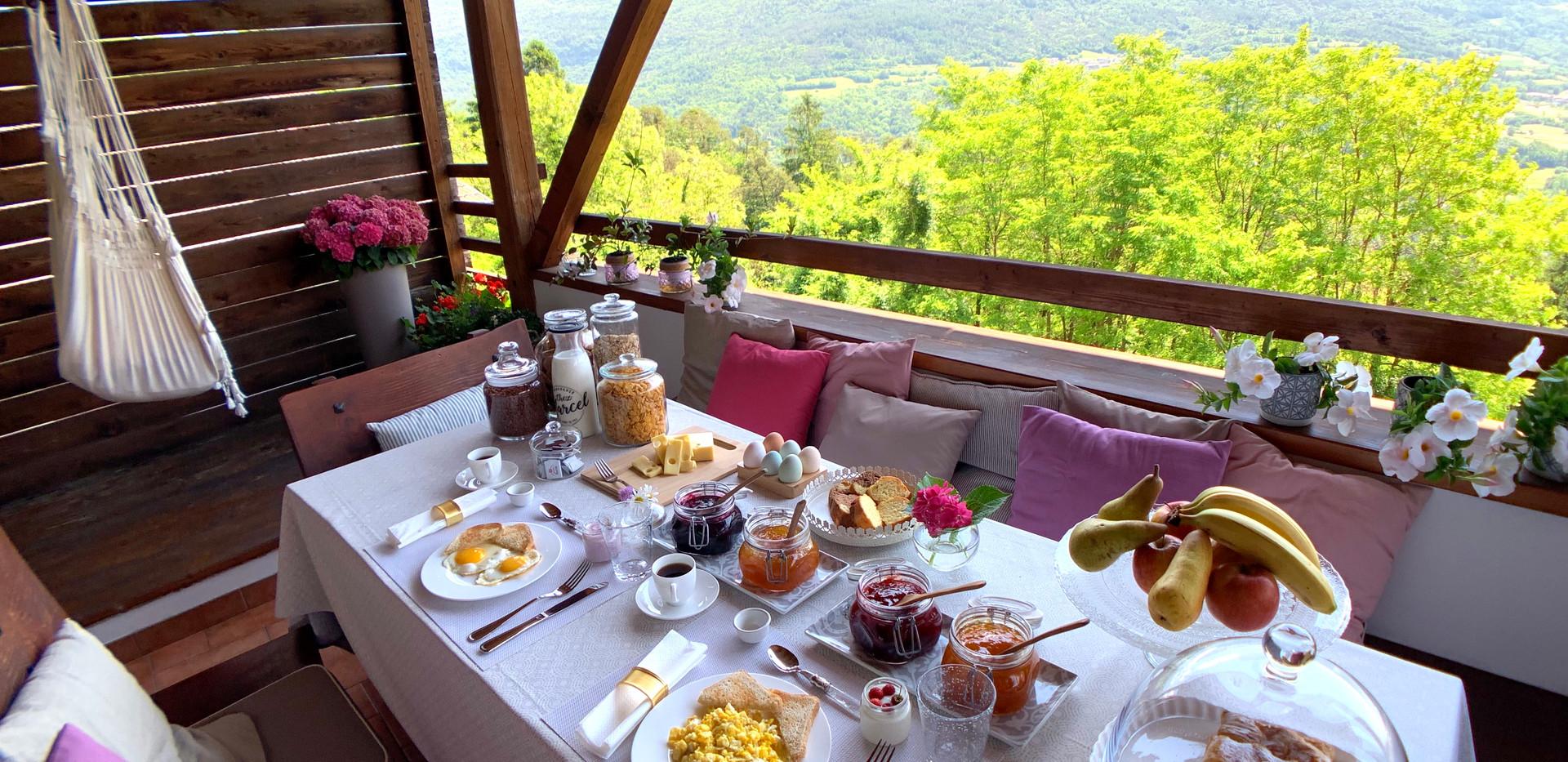 Maso Azzurro Trentino Breakfast Chalet .