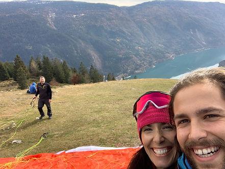 Maso azzurro trentino Paragliding italy.