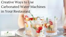 3個Natura氣泡水機在餐廳的應用