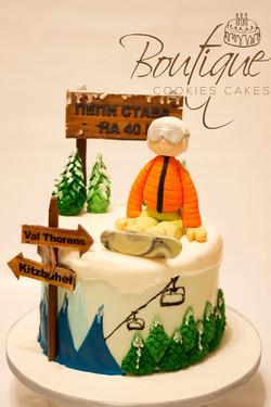 Snowbord man cake
