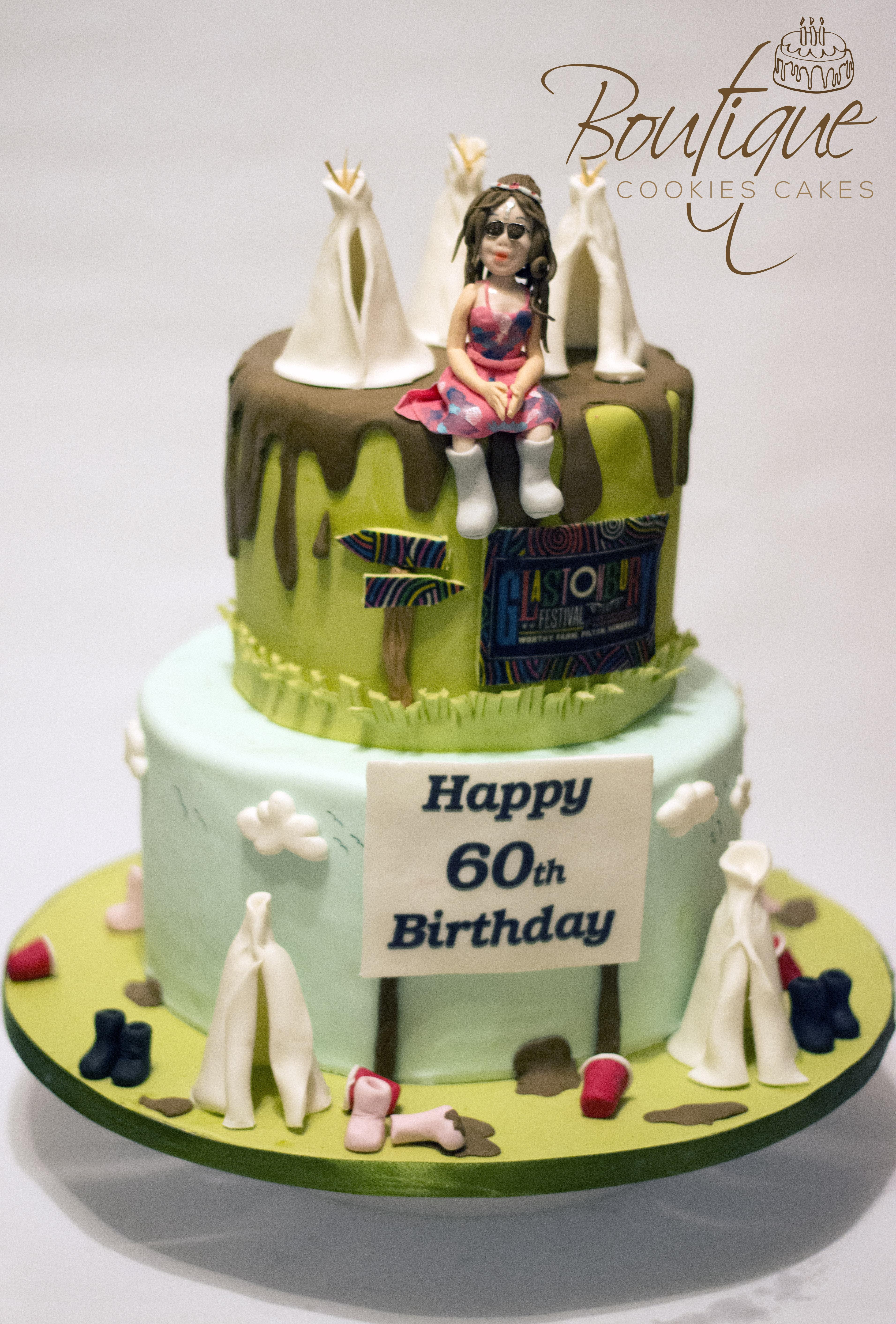 Glastonbury festival cake 1