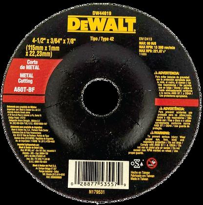 """Disco de Cortar Dewalt® 4-1/2"""" x 3/64"""" x 7/8"""""""
