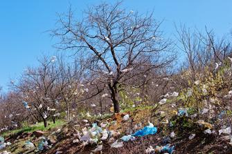 Marokko bant de plastic tas!
