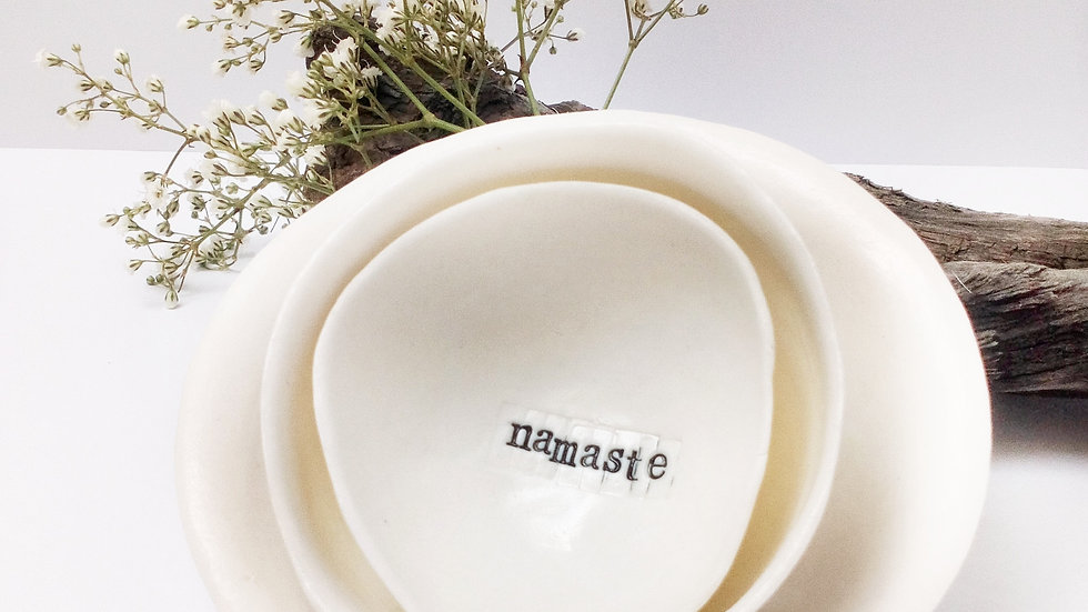 'Namaste' Mini Porcelain Gratitude Bowl