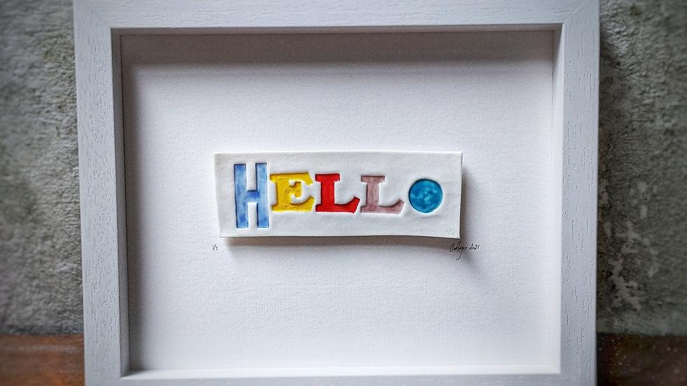 'hello' - Pop of Colour