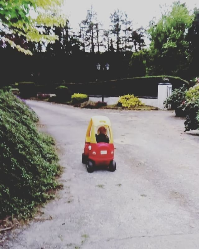 I think my bubs may need some driving lessons...