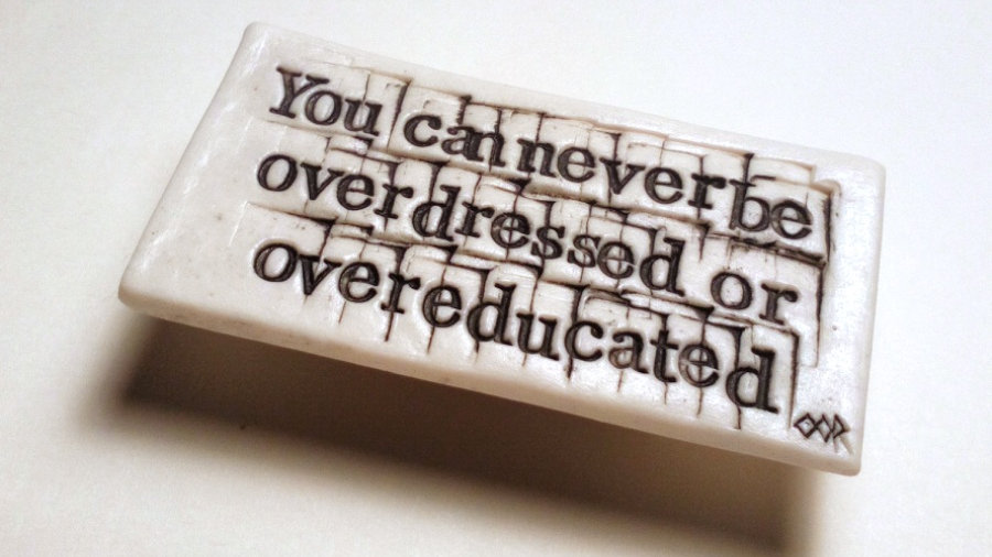 Oscar Wilde 'You can never be overdressed or overeducated'