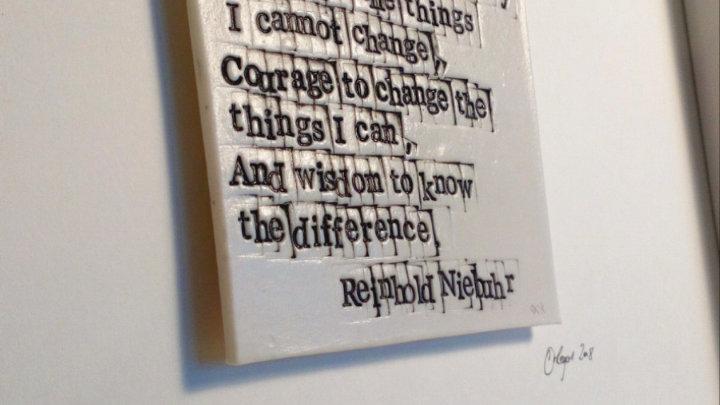 Serenity prayer - Words in Porcelain