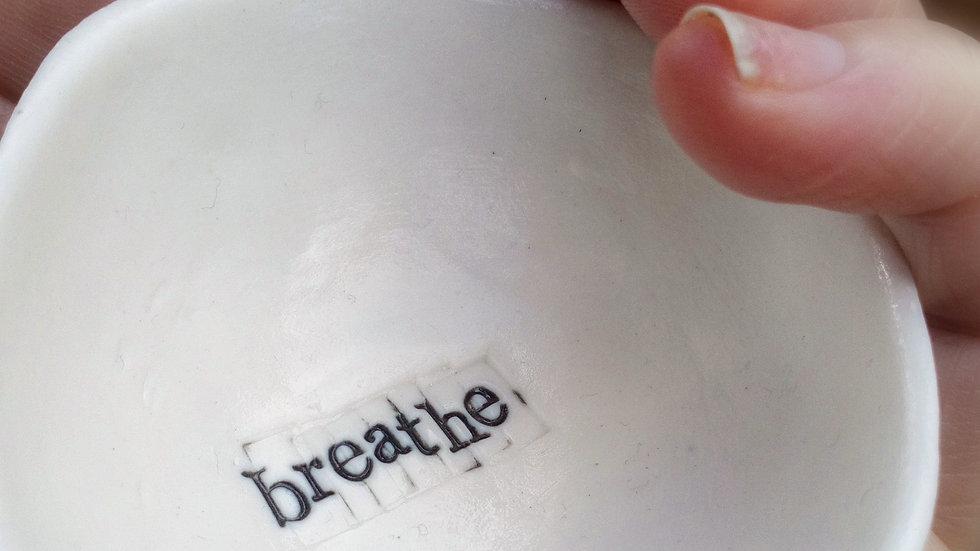 'Breathe' Mini Porcelain Gratitude Bowl