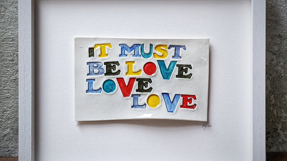 'it must be love,love,love ' - Pop of Colour