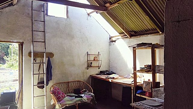 'step_into_my_office_baby..'_The_old_hen_house...._Still_a_work_in_progress_but_it's_starting_to_fee