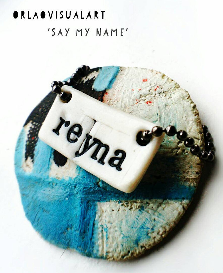 Personalised Porcelain Pendant with any