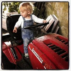 Farmer Jonah ready for a hard days work ..