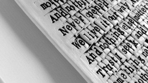 Metallica 'Nothing else matters'. Words in Porcelain
