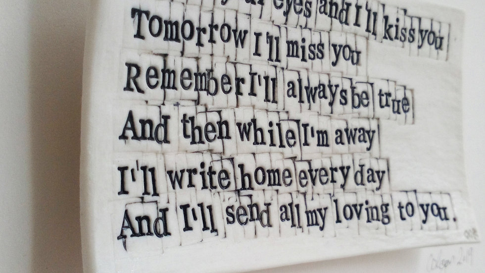 'All MY Loving' Words in Porcelain