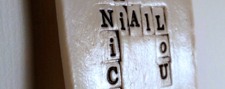'Tribe' Personalised Porcelain tile with