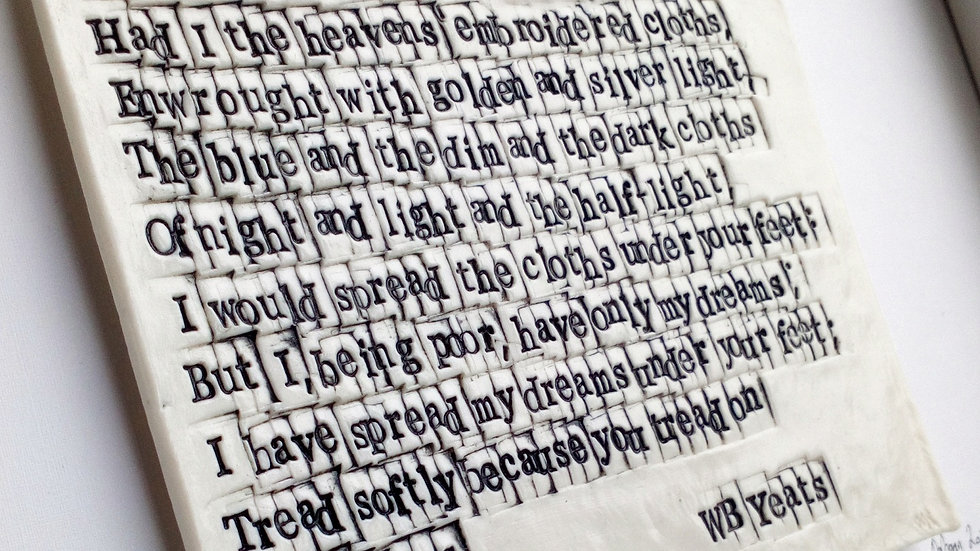 "WB Yeats ""Cloths of Heaven"" - Irish Poetry in Porcelain - Full Poem"