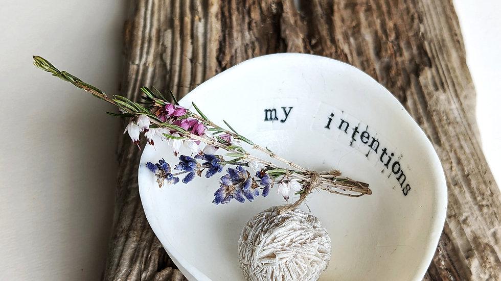 'Gratitude Bowl - 'my intentions'