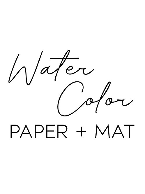 Spirit Animal Experience: Water Color, Paper + Mat