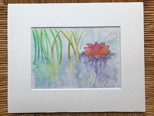 "Lotus Flower - 5""x7"""