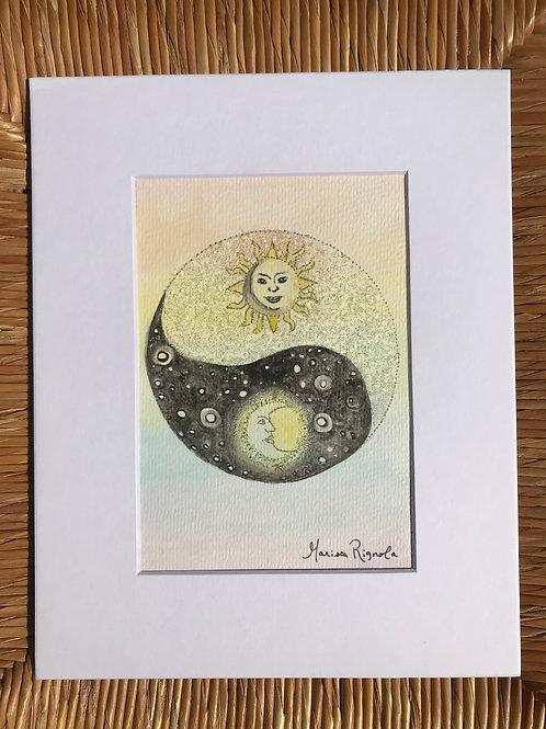 "Sun & Moon - 5""x7"""