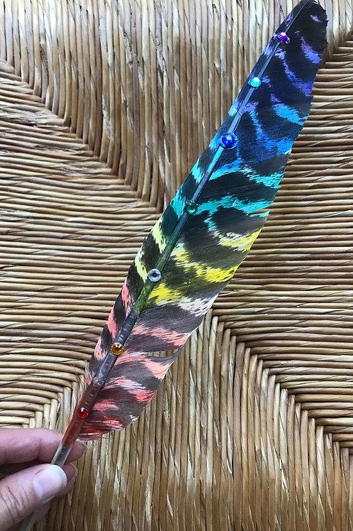 """Chakra Sage Feather 16"""""""