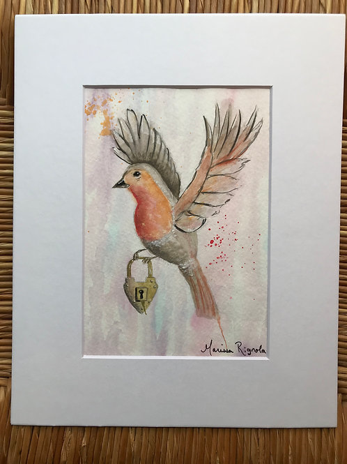 "Spring Robin - 5""x7"""