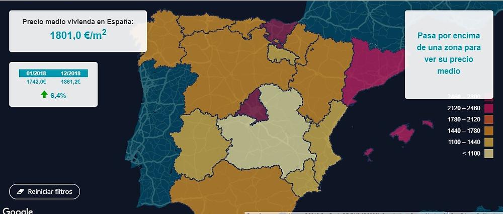 """בכמה עלו מחירי הנדל""""ן בספרד ב2018?"""
