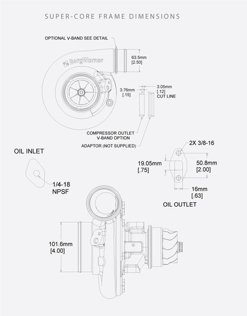 Borgwarner S300sx E Super Core Turbo Ads13009097049