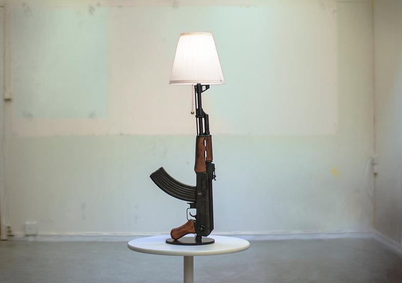 The iconic Phillipe Starck gun lamp, Afr