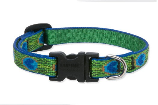 Lupine Tail Feathers Adjustable Collar 1""