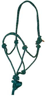 Mustang Economy Rope Halter with Lead