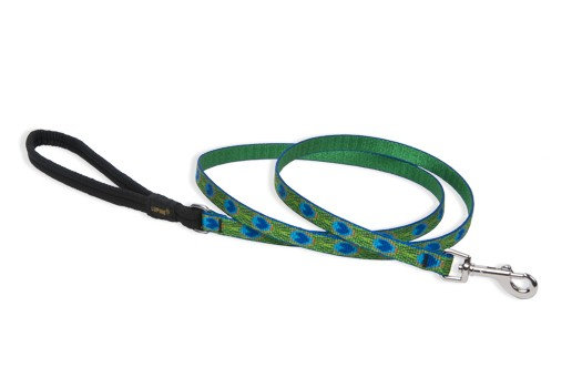 """Lupine Tail Feathers Padded Leash 1/2"""""""