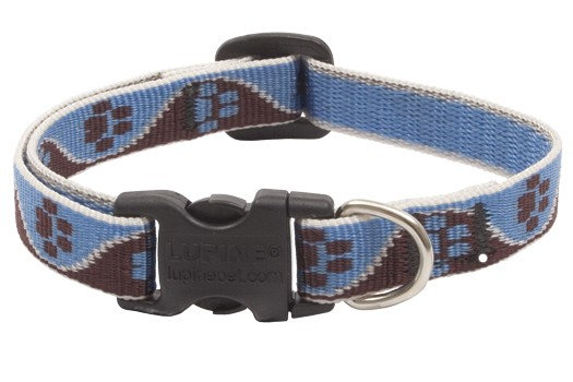 "Lupine Muddy Paws Adjustable Collar 3/4"" and 1/2"""