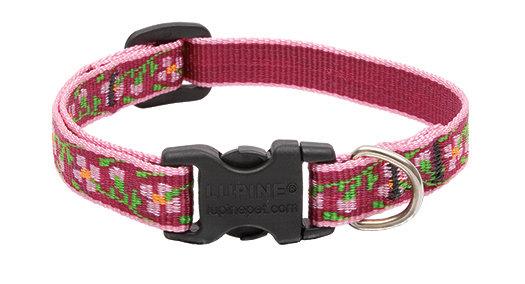 "Lupine Cherry Blossom Adjustable Collar 1/2"""