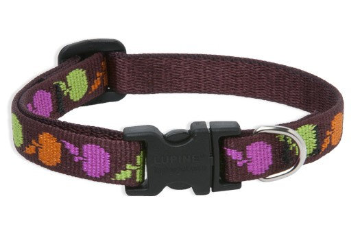 Lupine Candy Apple Adjustable Collar 1/2""