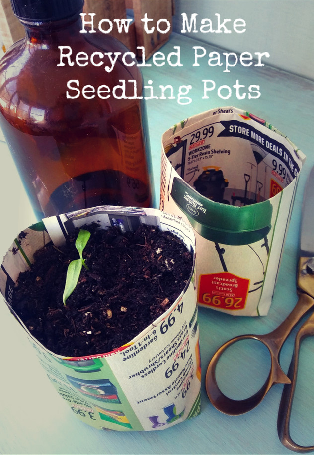 How to Make Recycled Paper Seedling Pots