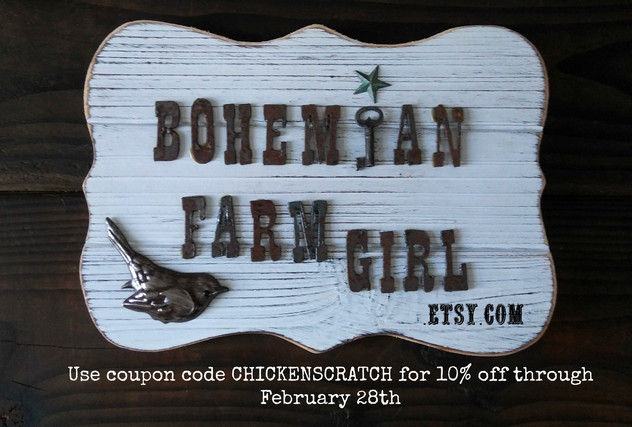 Bohemian Farmgirl Celebrates Grand Reopening of Etsy Shop with 10 percent off!