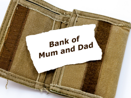 """Supporting The Bank Of """"Mum & Dad""""."""