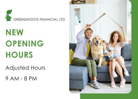 Greenshoots Financial Opening Hours