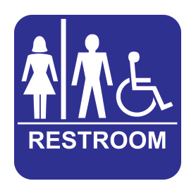 Accessible Unisex Restroom - Tactile Wall Sign