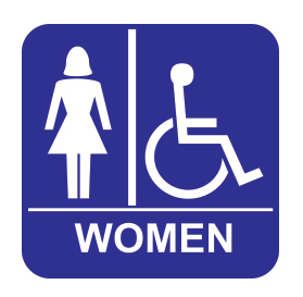 Accessible Restroom - Tactile - Women