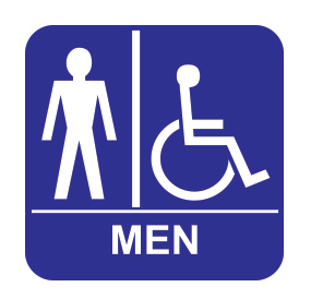 Accessible Restroom - Tactile - Men