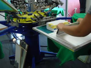Tシャツ印刷の行程