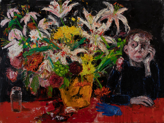 Before Lockdown2019 91.5x122cmsoil on linen, Collection of Victoria Art Gallery Bath