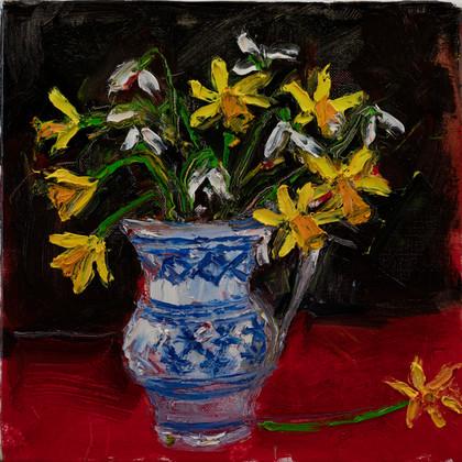Daffodils_&_Snowdrops_2021_40x40_oil_on_