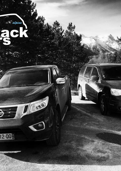 Alpine Black Cars
