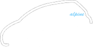alpine black cars logo