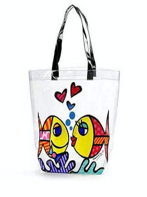 R.B. PVC CLEAR TOTE DEEPLY IN LOVE